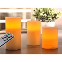 Haushalt 55040 -  Kaarsen - vlamloos - LED - set van 3 - timerfunctie