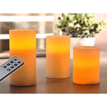 Haushalt Haushalt 55040 -  Kaarsen - vlamloos - LED - set van 3 - timerfunctie