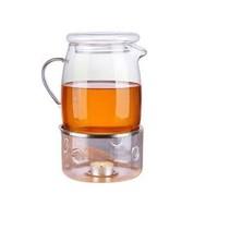 Haushalt 16030 - Theekan - met waxinelichthouder - 1.4 liter - glas