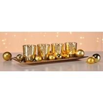 Haushalt 54244 - Waxinelichtjeshouder - schaal goud