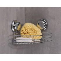 Haushalt 33327 - Hoekrek chroom met zuignappen