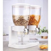 Haushalt 16119 - Muesli dispenser - 2 containers - wit - 2 x 3.5 liter