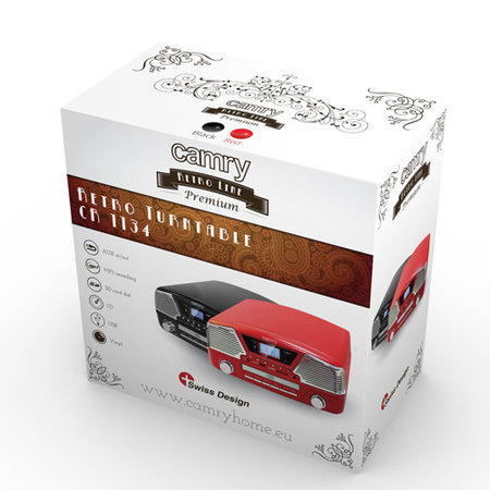 Camry Camry CR 1134 R - Platenspeler - rood - met afstandsbediening