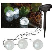 Haushalt 70279 - Vijverlamp - solar - set van 3 - kogelvormig met LED