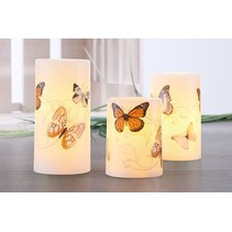 Haushalt 51024 - led wax kaarsen met vlinder print