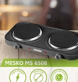 Mesko Mesko MS 6509 - Elektrische dubbele kookplaat - 2000 Watt
