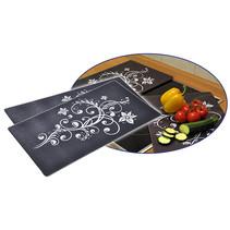 Haushalt 28018 - Afdekkookplaten - set van 2 - zwart - glas