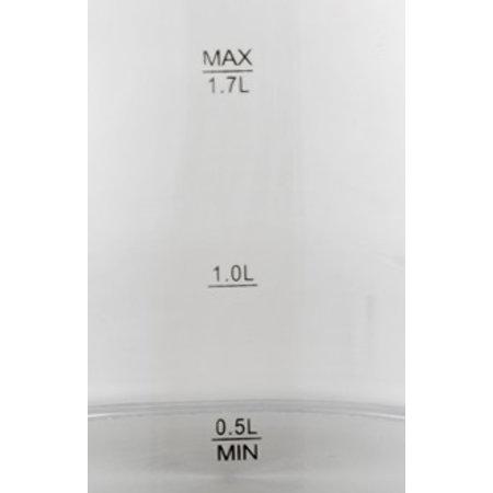 Lentz Lentz 74124 - Waterkoker - 1.7 liter - glas - wit