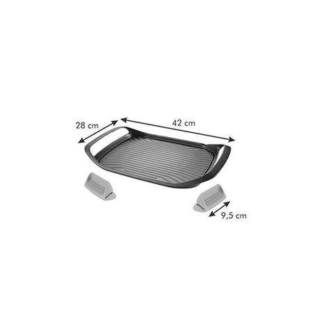 Tescoma - TE605068 - Grillpan - inclusief siliconen grepen - 42 x 48 cm