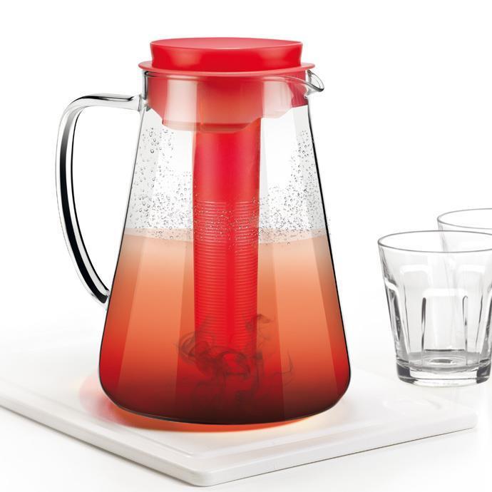 Tescoma - TE64662820 - Kan met infuser - glas - 2.5 liter - rood - TEO