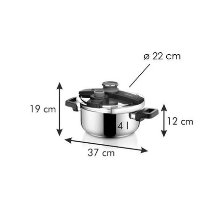 Tescoma - TE702764 - Snelkookpan - 4 liter - RVS