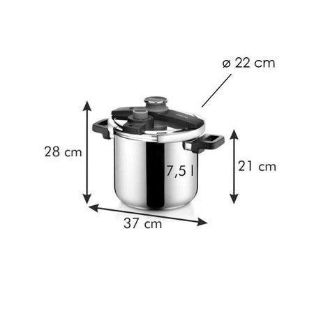 Tescoma - TE702767 - Snelkookpan - 7.5 liter - RVS