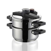 TE702768 - Snelkookpan - 4 en 6 liter - RVS - Ulitma Duo