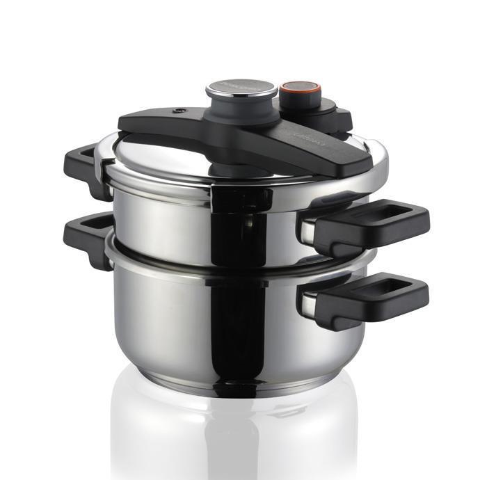 Tescoma - TE702768 - Snelkookpan - 4 en 6 liter - RVS - Ulitma Duo
