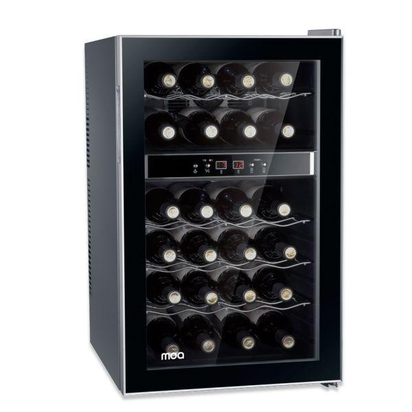 MOA Moa professionele design wijnkoelkast 24 flessen 2 klimaatzones  1 deurs