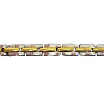Magnetische gezondheids armband Jewel Edition goud/zilver edelstaal