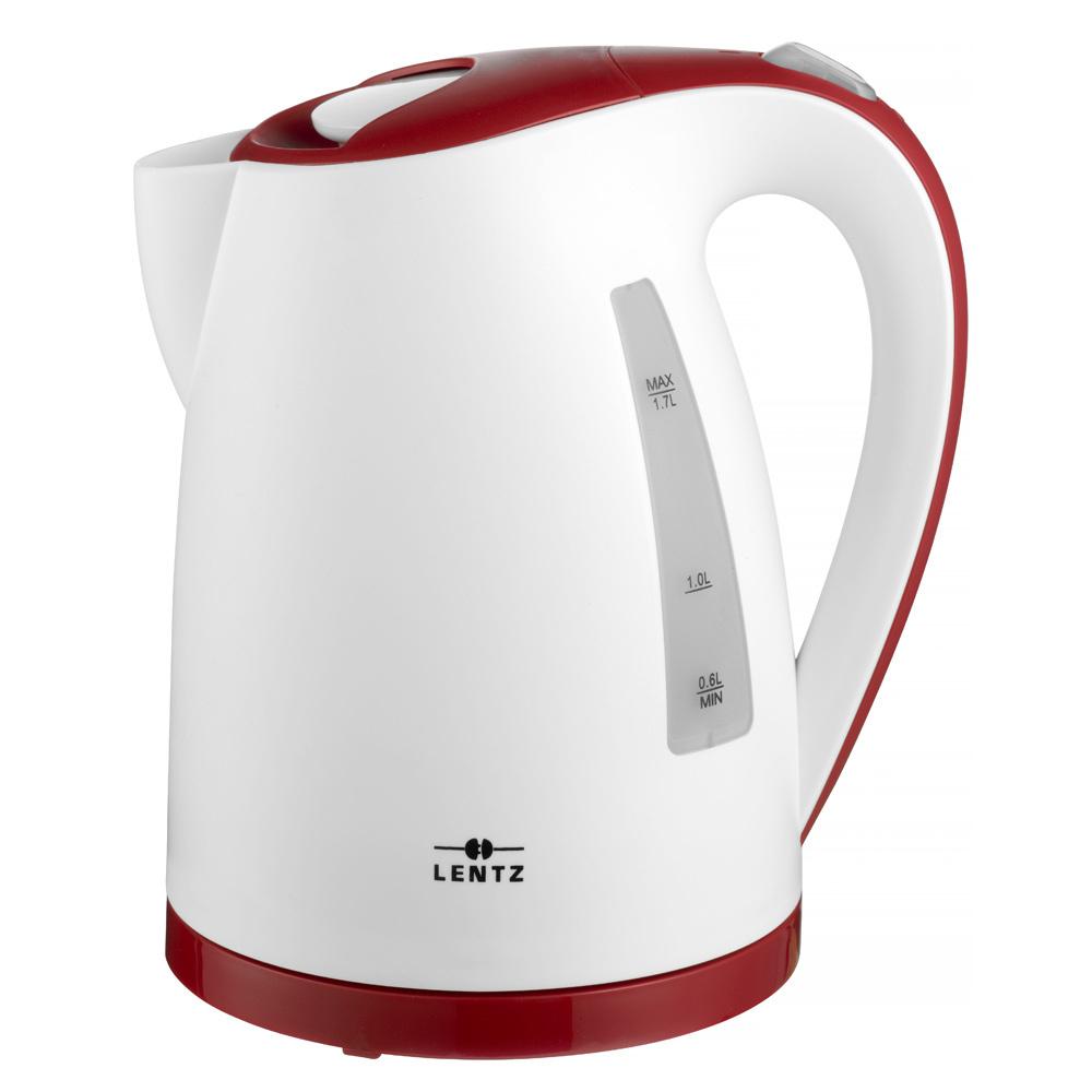 Lentz Lentz 74130 - Waterkoker - 1.7 liter - wit-rood
