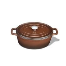 "Kustaa gietijzeren casserole pan 29cm ovaal ""Brown"""