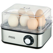 MOA Elektrische eierkoker voor 8 eieren - Met timer - Voor een perfect ei – 500 Watt en met RVS behuizing