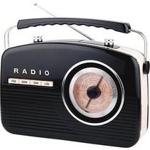 Camry -  CR 1130b  - draagbare radio -  retro - zwart