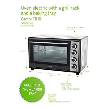 Camry Camry CR 111 - Elektrische oven - 45 liter