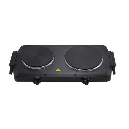 lentz Lentz dubbele kookplaat - zwart - 1000 en 1500 Watt