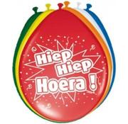 Verjaardag Ballonnen Hiep Hiep Hoera! Multicolor - 8 stuks
