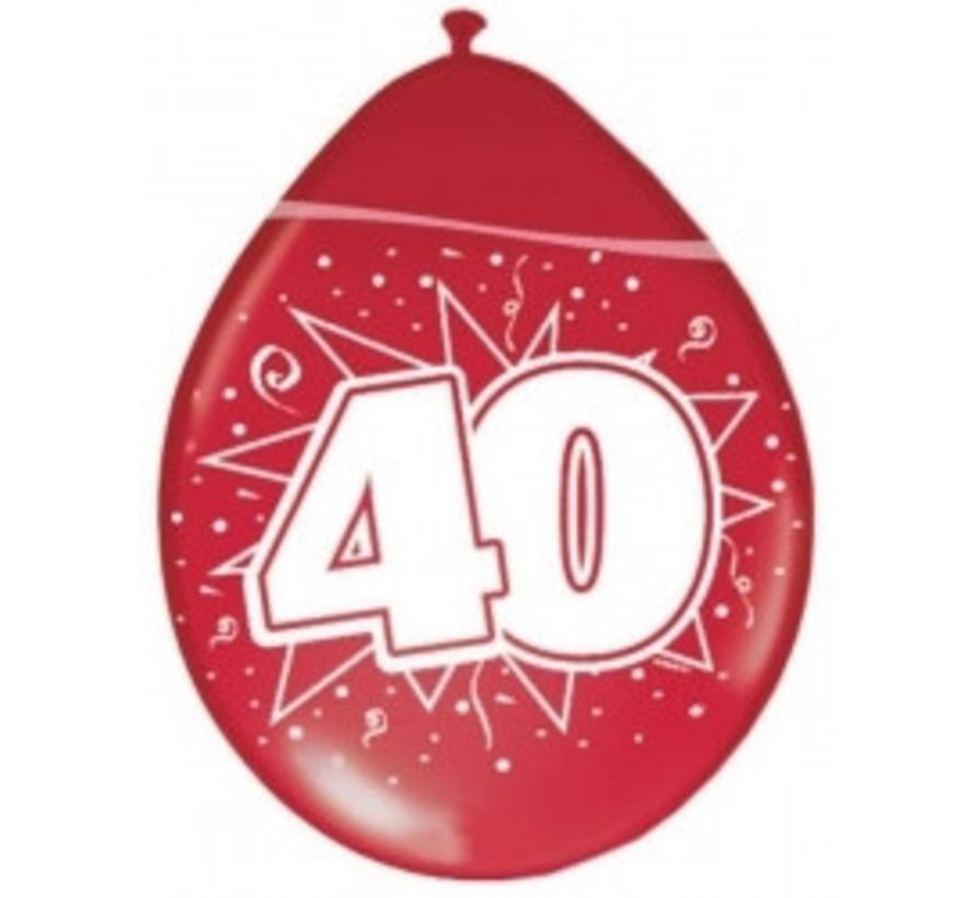 Ballon 40 jaar - Metallic robijn