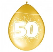 Ballon 50 jaar - Metallic goud