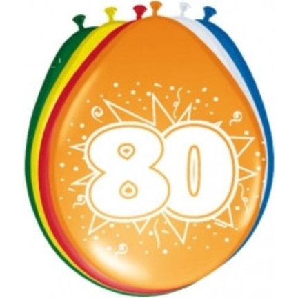 Goedkoop ballonnen 80 jaar online kopen