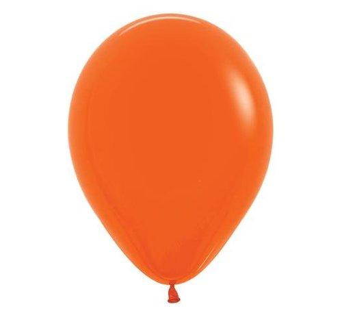Donkeroranje Ballonnen - 10 stuks