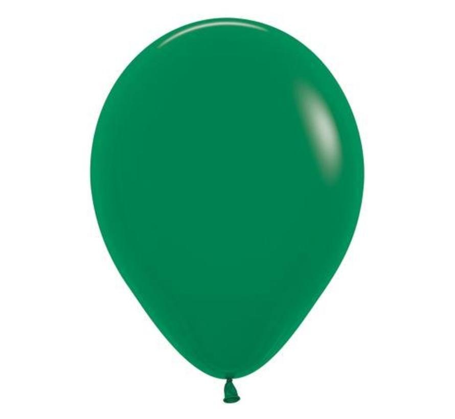Donkergroene Ballonnen - 100 stuks