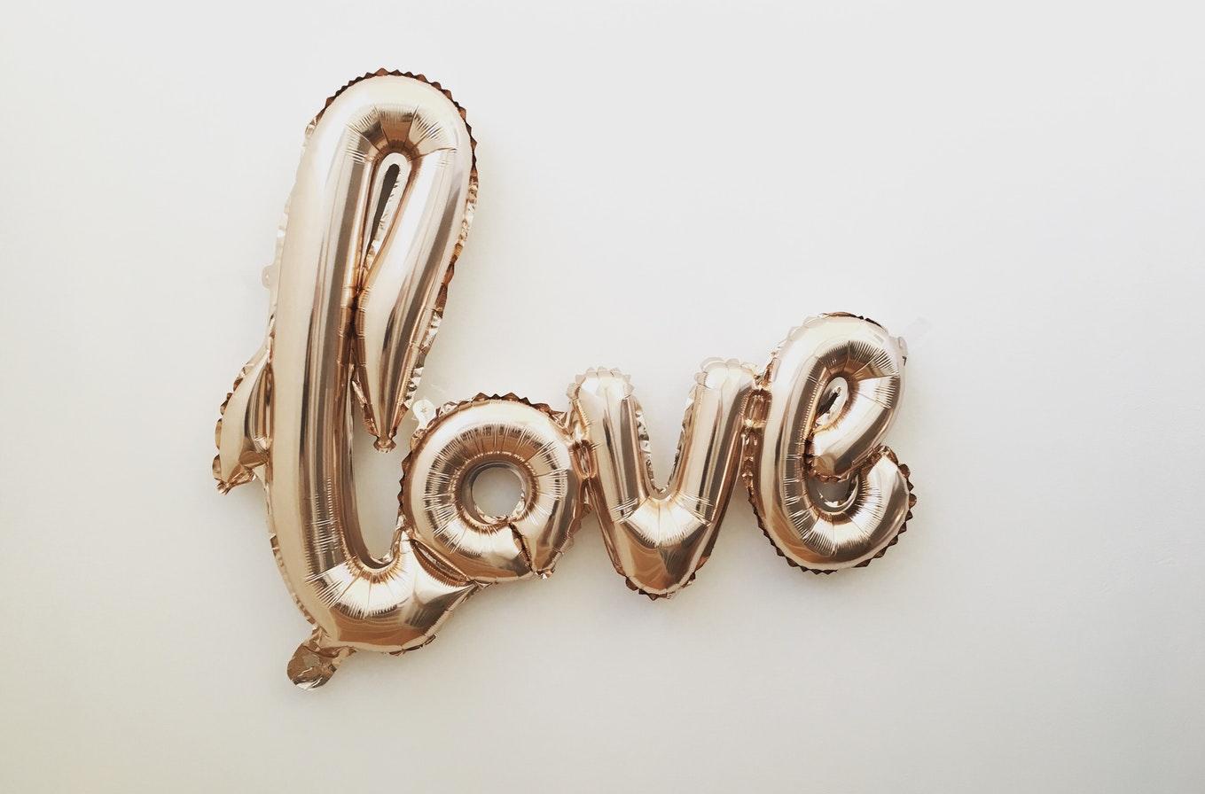 Letter ballonnen bruiloft