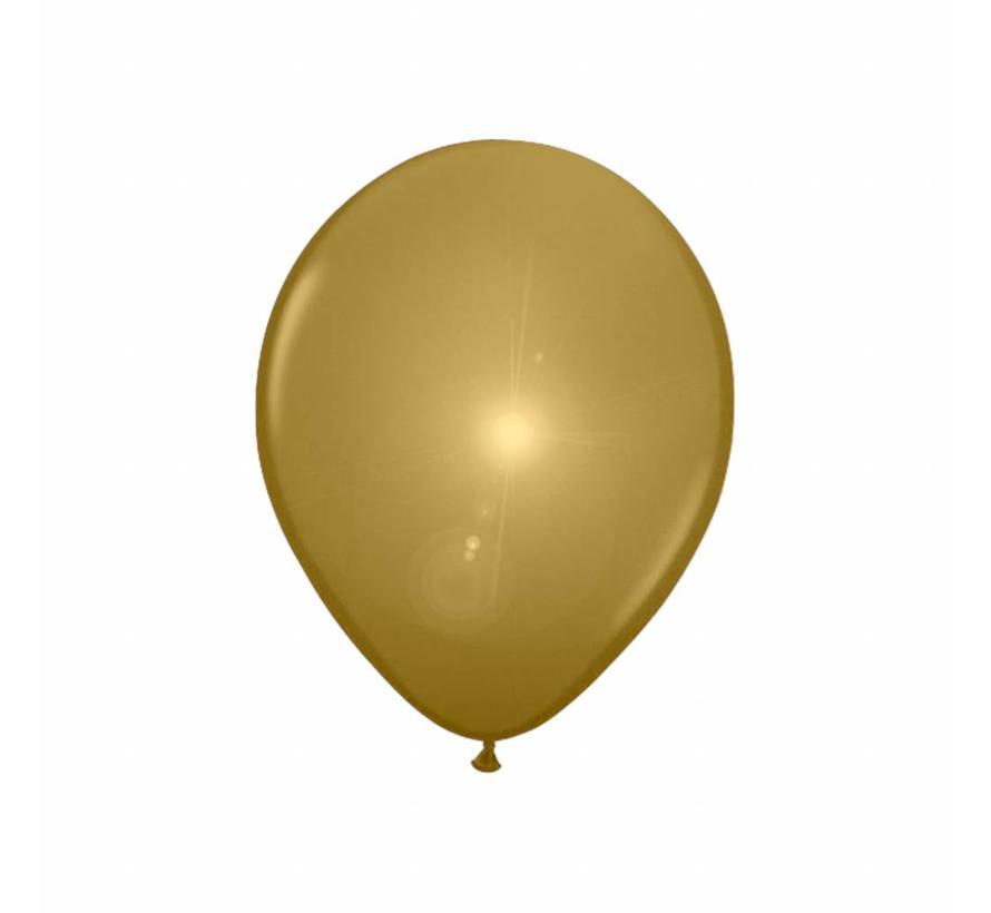 Led Ballonnen Goud 25cm - 5 stuks