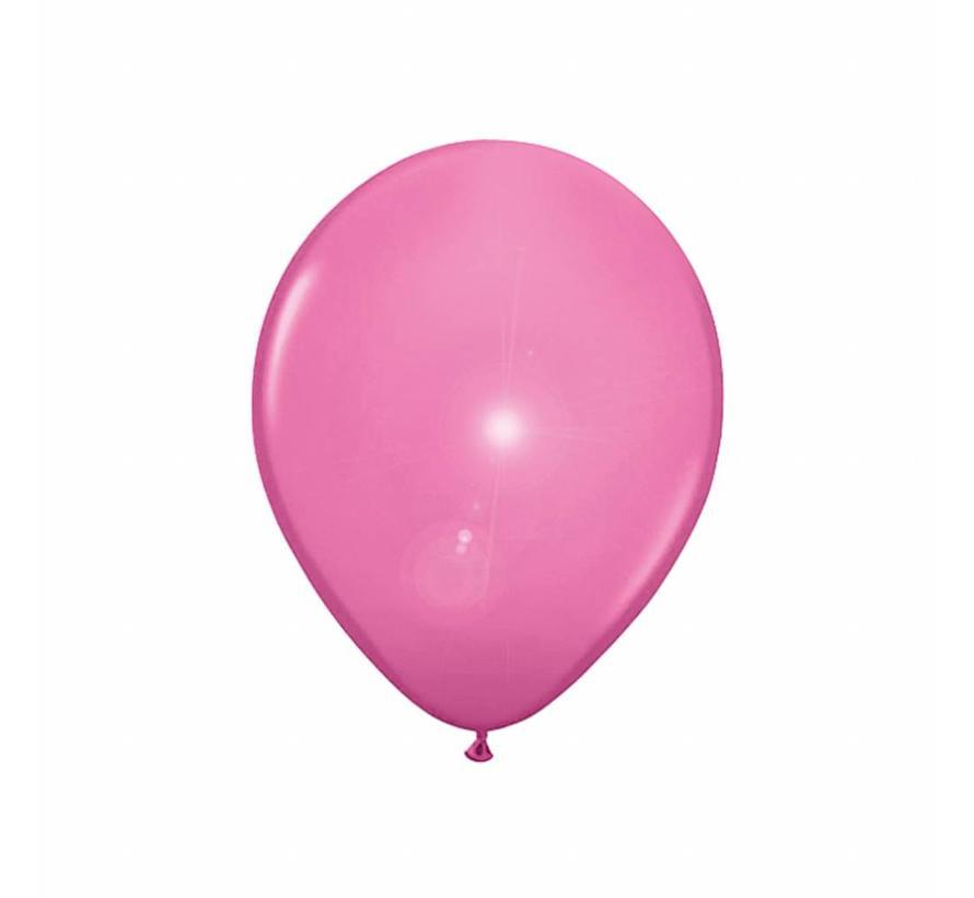 Led Ballonnen Lichtroze 25cm - 5 stuks