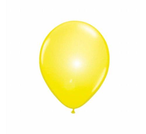 Led Ballonnen Geel 25cm - 5 stuks