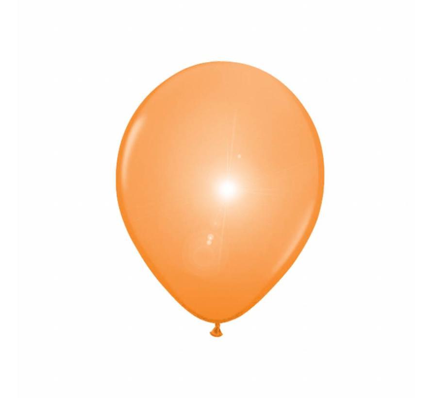 Led Ballonnen Oranje 25cm - 5 stuks