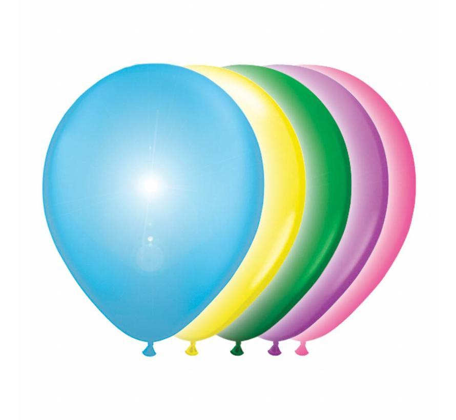 Led Ballonnen Multicolor 25cm - 5 stuks