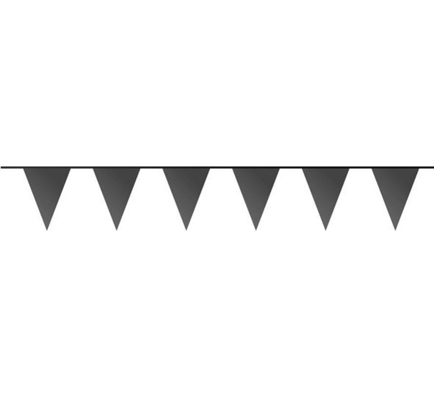 Vlaggenlijn Zwart - 10 meter