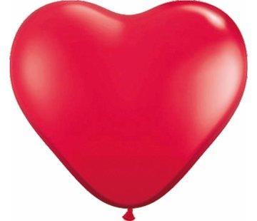 Hartjes Ballonnen Felrood - 8 stuks