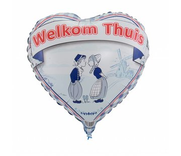 Hartjes Ballon Welkom Thuis - 46cm
