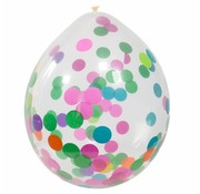 Confetti Ballonnen Multi - 4 stuks
