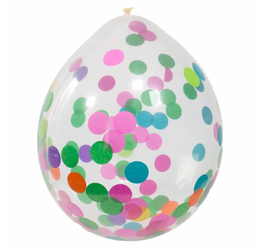 Confetti Ballonnen Multi 30cm - 4 stuks