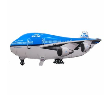 Ballonfiguur XL Vliegtuig KLM  95cm - Per Stuk