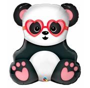 Ballonfiguur Panda met Hartjesbril