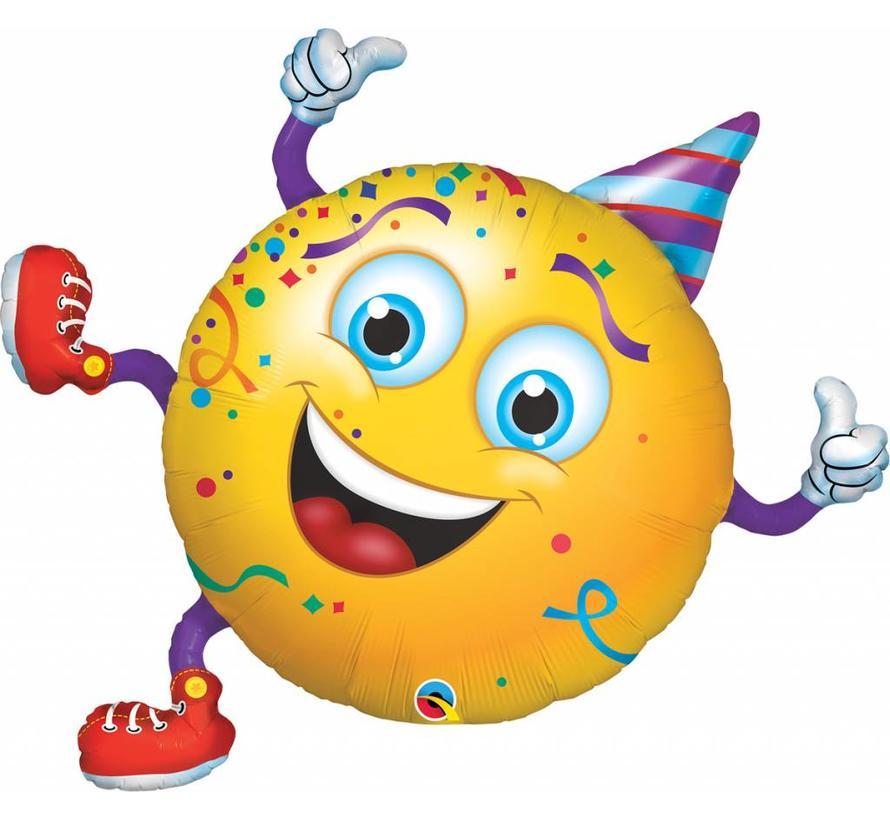 Ballonfiguur Lachende Smiley 96cm - Per Stuk