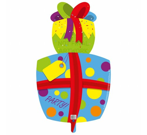 Ballonfiguur Cadeau - per stuk