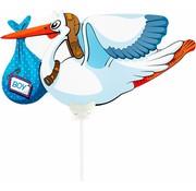 Folieballon Ooievaar Jongen - per stuk