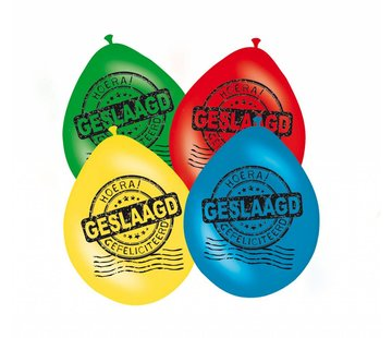 Geslaagd Ballonnen Graduated 30cm - 8 stuks