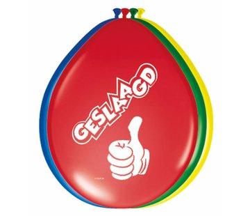 Geslaagd Ballonnen 30 cm - 8 stuks